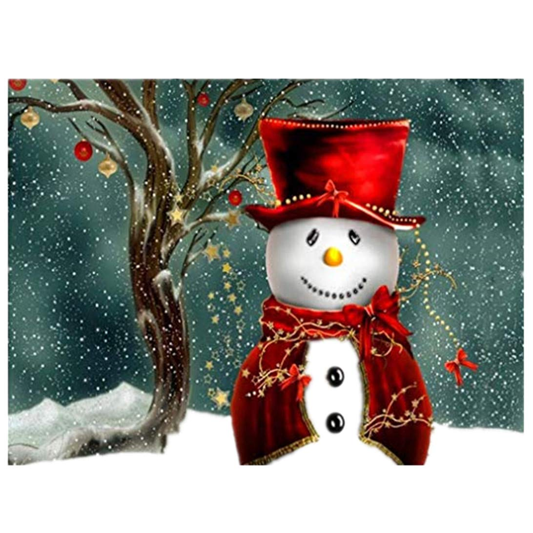 Lavany Snowman 5D Diamond Painting Kits,Christmas Full Drill Embroidery Clearance Cross Stitch Patterns DIY 5D Paintings Crystal Rhinestone Arts Craft for Wall Decor
