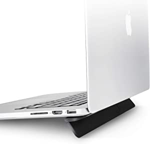 Olixar Laptop Ventilation Stand - Ergonomic and Portable - Fits Laptops up to 15 inch - for MacBook Air Pro, Dell XPS, Microsoft, HP, Lenovo and More - Black