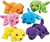 Plush Neon Dogs (1 dozen) – Bulk, Assorted Colors