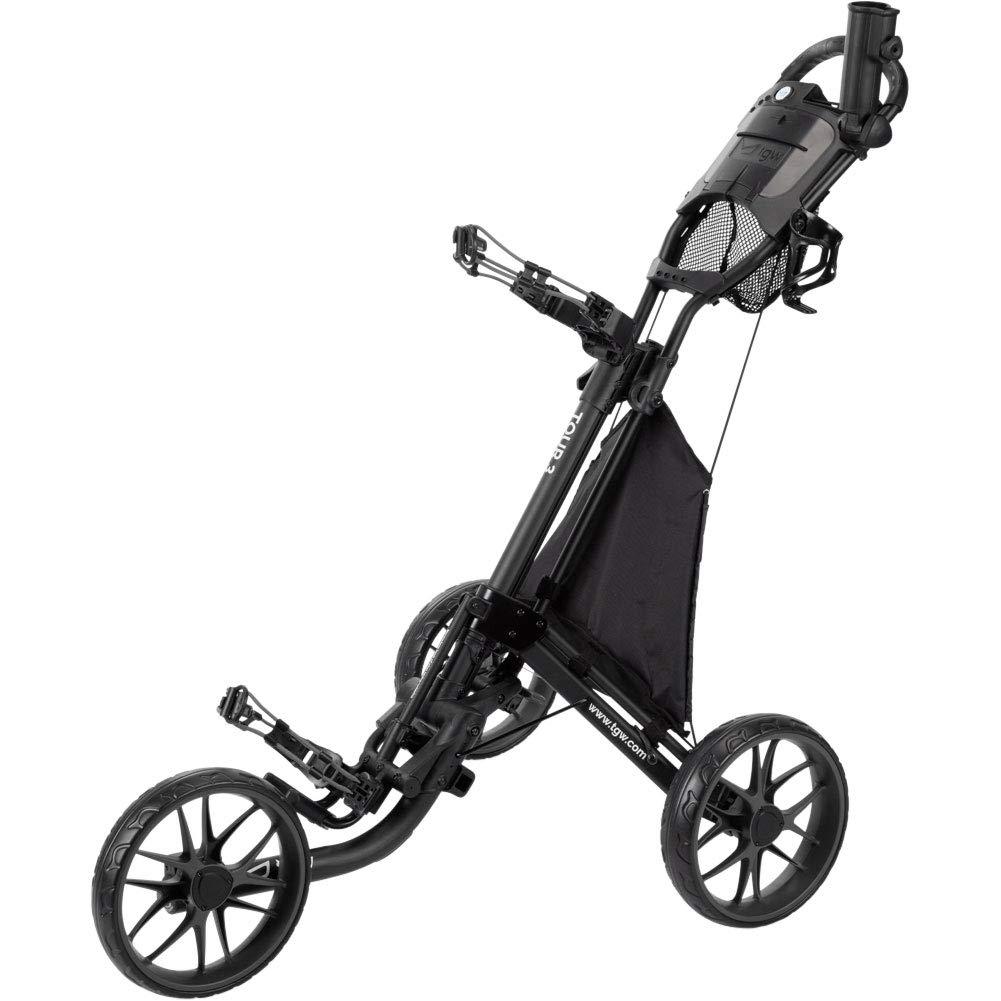 TGW Tour 3-Wheel Push Cart Dark Grey/Black