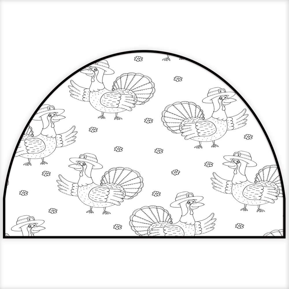 amazon hua wu chou half round front door matwel e mat half Sherwin-Williams Naval Front Door amazon hua wu chou half round front door matwel e mat half round w35 x h23 inch hand drawn seamless pattern with cartoon turkey pattern print for