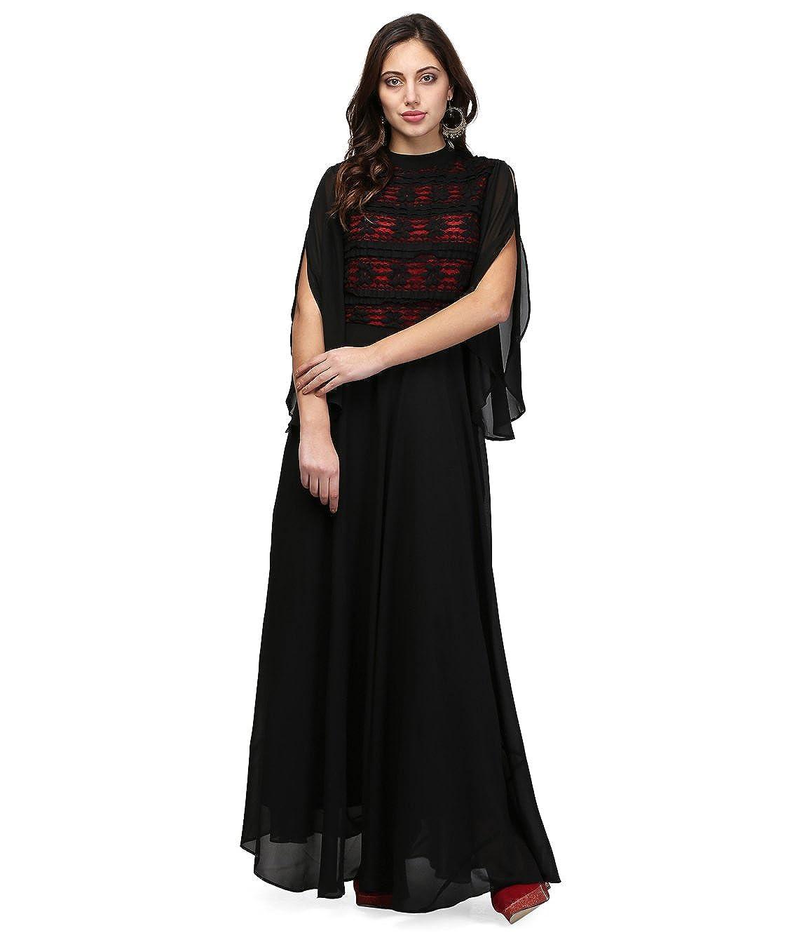 Buy V\u0026M Black-Red Women's Contrast Lace