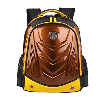 Amazon.com | Cool Hard Shell Transformers Face Kids Book Bags ...