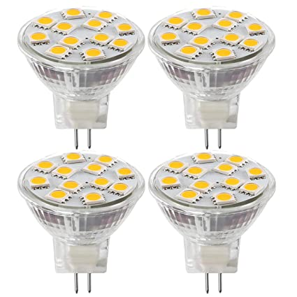 MR11 GU4.0 Bombillas LED, 20W Bombillas Halógenas Equivalente, GU4 Base, 12V
