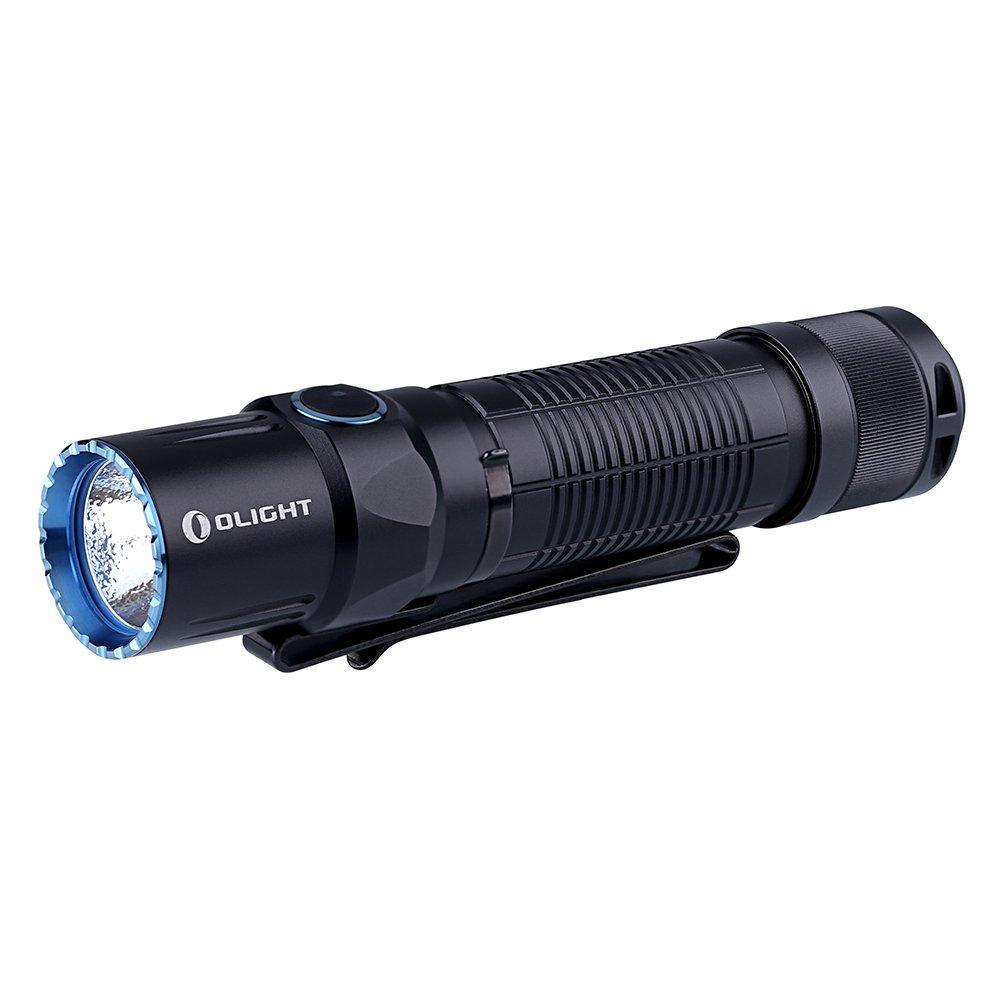 Olight M2T WARRIOR Doppelter Schalter taktische Taschenlampe 900 Lumen, LED Cree Einstellbar 5 Modi Silent Tail Schalter mit 2 CR123A Batterien (kaltweißes Licht)