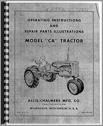 Allis Chalmers CA Tractor Operators Manual pdf