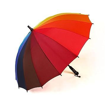 """Regenschirm /""""Regenbogen/"""" windstabil Sturmsicher Regenschirm Stockschirm"""