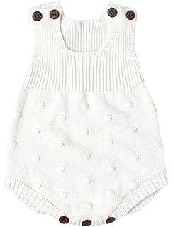 ac6bd30dd095 Amazon.com  Bratyeessi Grey Baby Rompers Newborn Spring Jumpsuit ...