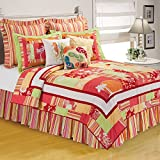 C&F Home 89177.10592 Tropical Paradise Quilt, King