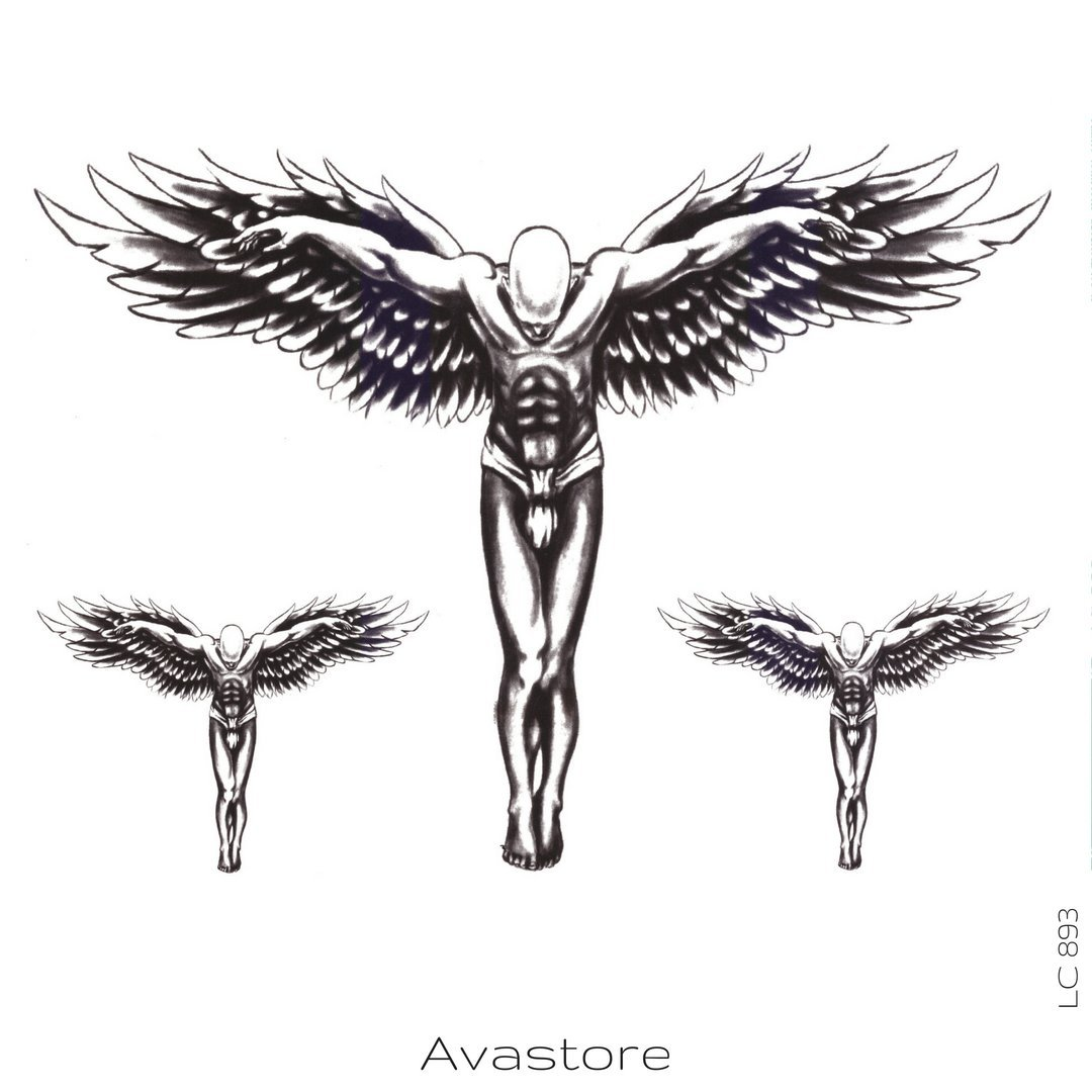 Tatuaje Temporal Ángel Tatuaje efímero ángel – avastore: Amazon.es ...