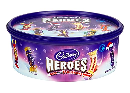 Cadbury Heroes Chocolates Tub 695g