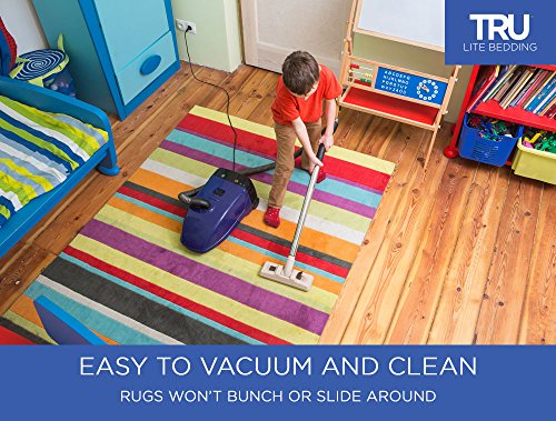 TRU Lite Rug Gripper - Non-Slip Rug Pad for Hardwood Floors - Non Skid Washable Furniture Pad - Lock Area Rugs, Mats, Carpets, Furniture in Place - Trim to fit Any Size - 2' x 8' by TRU Lite Bedding (Image #1)