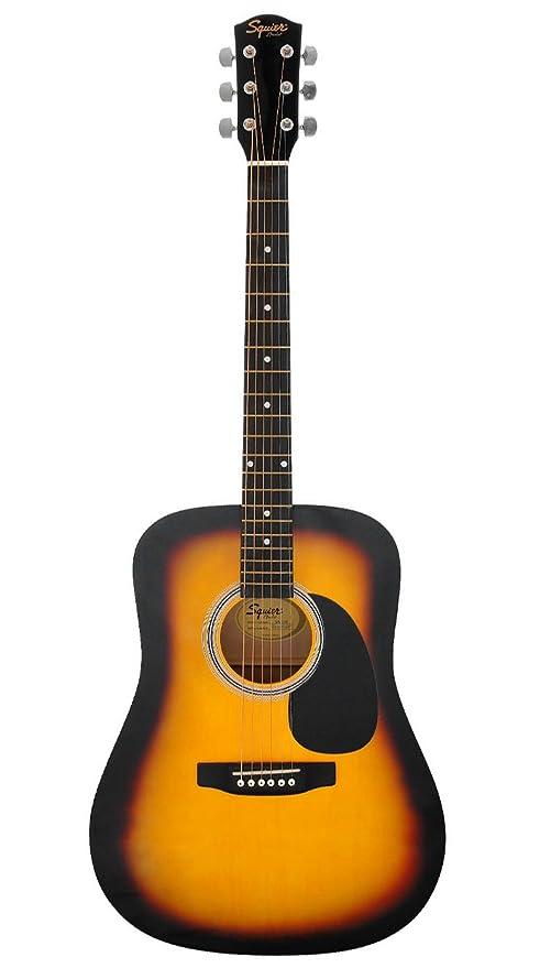 Fender 0930306006 Squier Dreadnought SA-105 - Guitarra eléctrica, color negro, sunburst