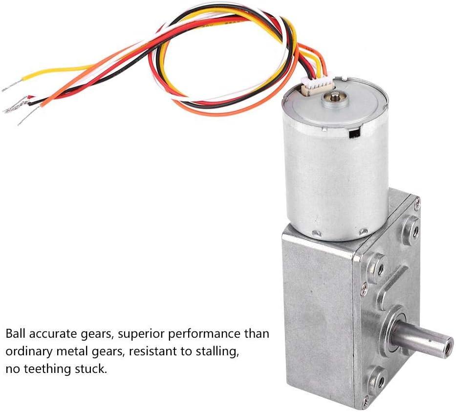 DC 12//24V motore brushless riduttore di velocit/à motore a vite senza fine per robot serrature fai da te 12V 18 RPM motoriduttore 4~150 giri//min