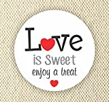 Love is Sweet Enjoy a Treat - Thank You Stickers - Wedding Stickers - Anniversary Stickers - Favor Stickers - Love is Sweet Labels