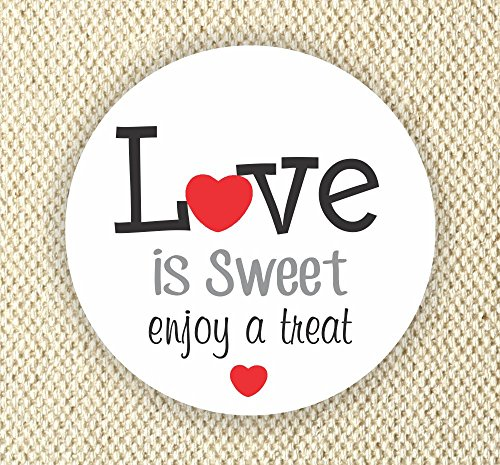 Love is Sweet Enjoy a Treat - Thank You Stickers - Wedding Stickers - Anniversary Stickers - Favor Stickers - Love is Sweet Labels by Philly Art & Crafts