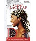 (PACK OF 6) DONNA PREMIUM COLLECTION LEOPARD LACE CAP #22065 ASSORT COLOR