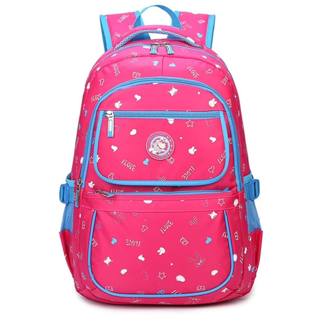 DS-Schultasche Rucksack - Wasserdichte Tasche Durable Travel Camping Rucksack Jungen Und Mädchen Rosa Schule Rucksack Mädchen Tasche && (Farbe   D, größe   39X28X14CM)
