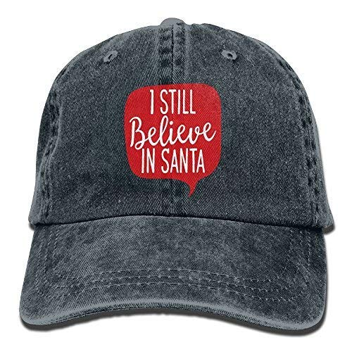 Les L.Reed I Still Believe in Santa Claus Adult Cowboy Baseball Caps Denim Hats for Men Women -