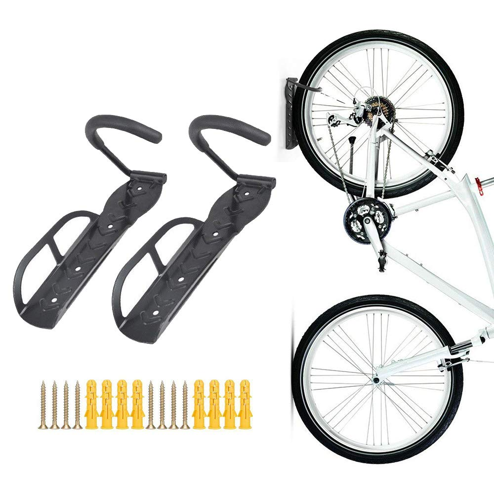 Teraysun Wall Mounted Bike Rack Stand Space Saving Vertical Hanger 2pcs HS-T009