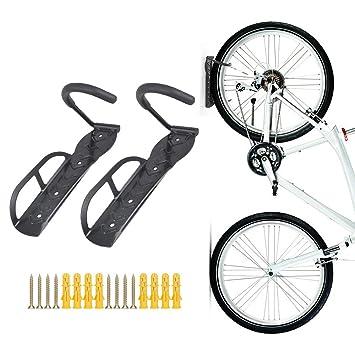 Soporte de pared para bicicletas, colgador con tornillos, 2 piezas, de Teraysun