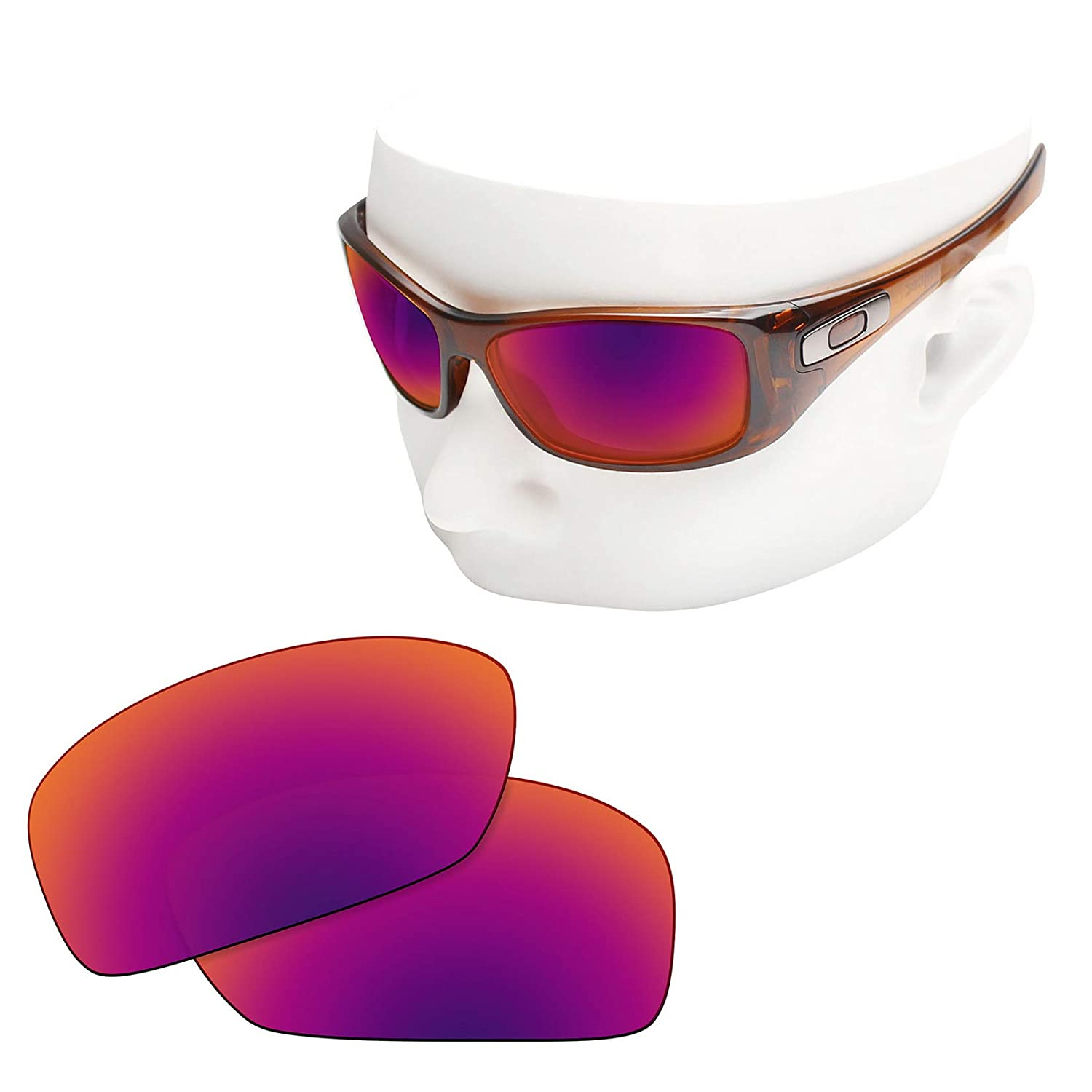 05ca6f3c4c Amazon.com  OOWLIT Replacement Sunglass Lenses for Oakley Hijinx Purple Red  Mirror Polarized  Clothing