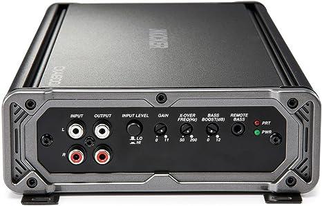 Amazon.com: Kicker Bundle of 3 Items 43CXA1800.1 CX Series Mono Car Amplifier w/Power Acoustik AK-0 0 Gauge Complete Kit + PCX-3F 3F Digital Capacitor: ...