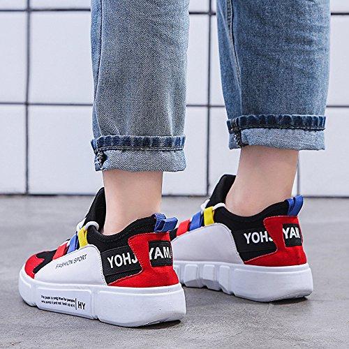 Scarpe Ginnastica Comode Casual E Da Moda Con Unica Sneakers A Piattaforma Alla Jerfer Rosso EpqnX4