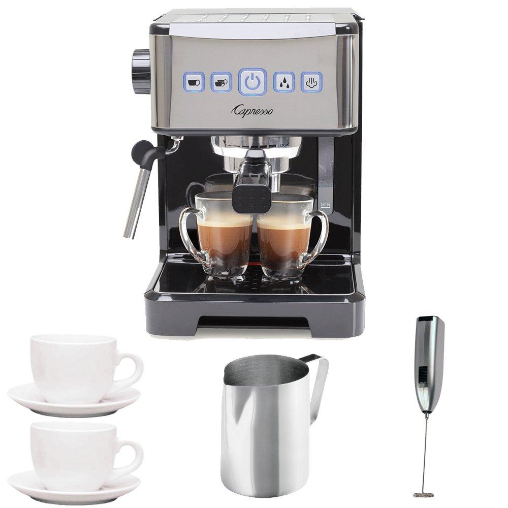 Capresso Ultima PRO Programmable Espresso & Cappuccino Machine w/ 2 Cappuccino Cups & Pitcher & Frother by Capresso