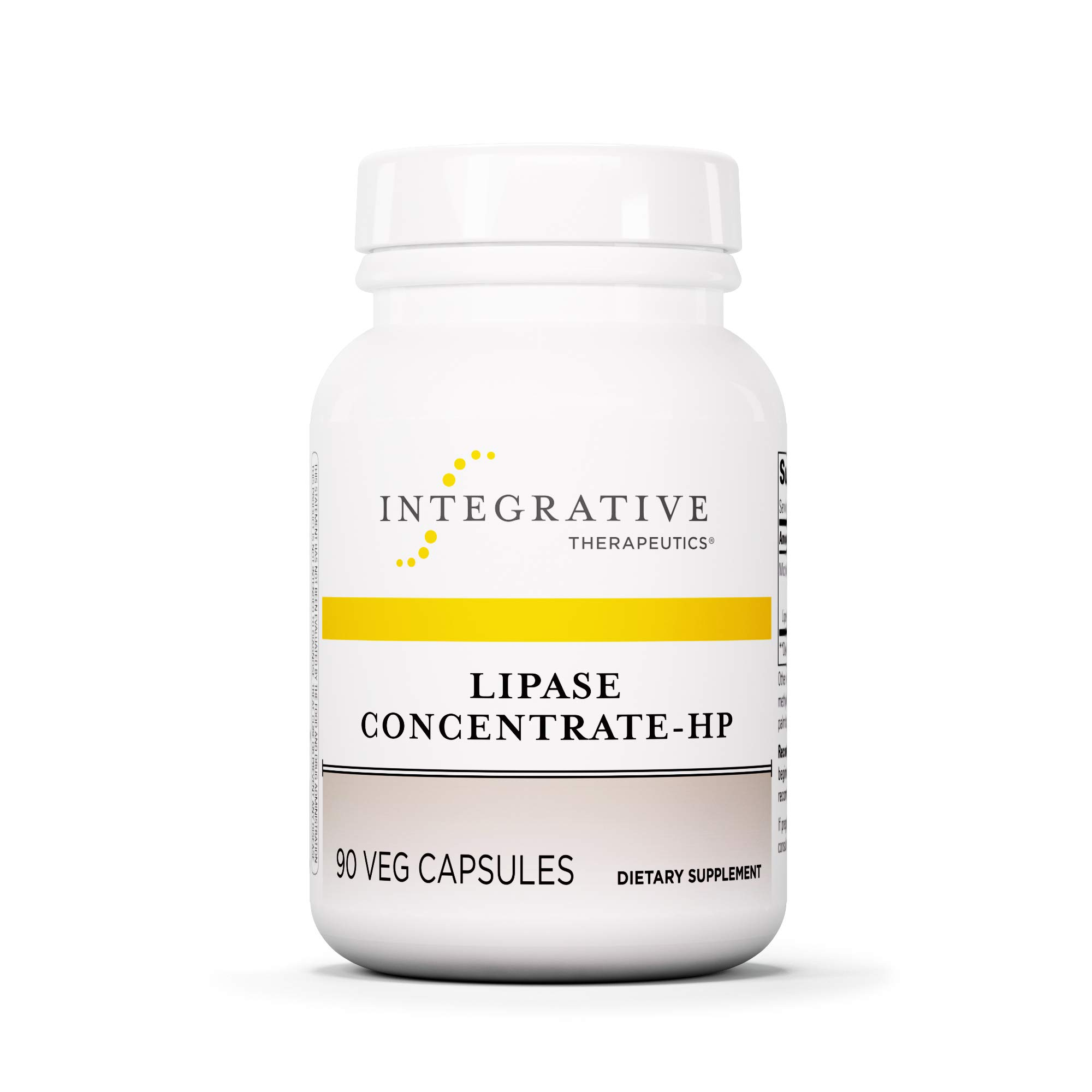 Integrative Therapeutics - Lipase Concentrate-HP - Fat Digestion* Enzyme - Keto and Paleo Friendly - Ideal for Diet High in Fat - Vegan - Vegetable Capsules - 90 Count by Integrative Therapeutics