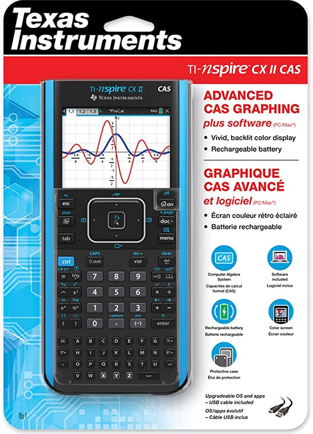 Texas Instruments TI-NSPIRE CX II CAS Graphing Calculator New