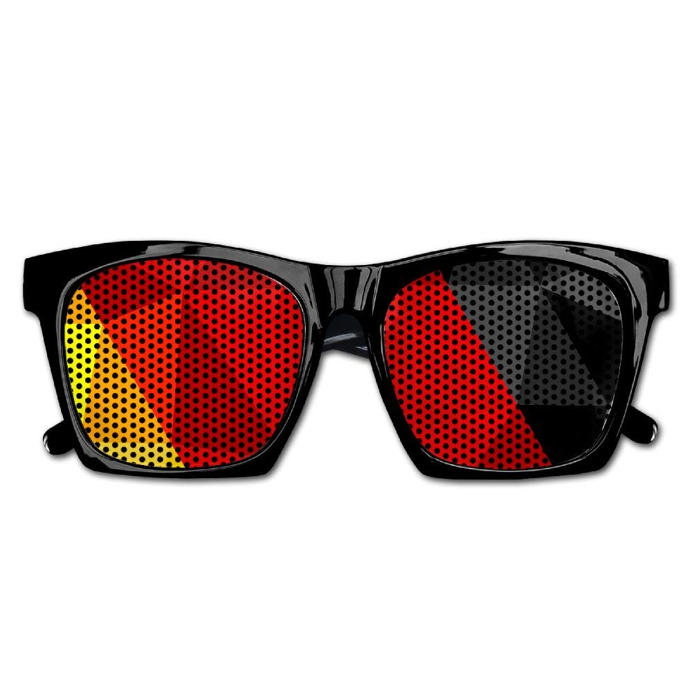 Xing Stars Colorful Summer Unisex Geometry Triangle German Flag Fashion Party Costume Sunglasses