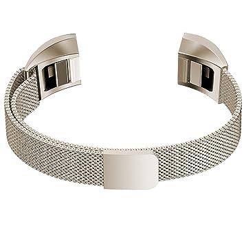 Correa de acero inoxidable para reloj inteligente Fitbit Alta, con cierre magnético, sin necesidad