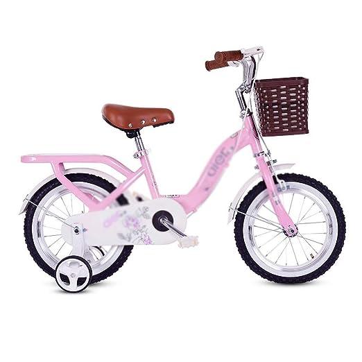 SGMYMX Bicicleta para niños Bicicleta Infantil Princesa Estudiante ...
