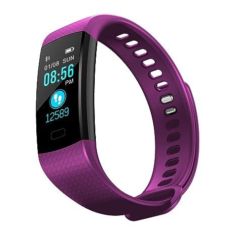 Yubusiness Montre Connectée, Sport Fitness Tracker dActivité avec Bluetooth Montre Cardio ÉtancheIP67avec Cardiofréquencemètres