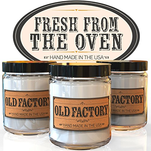 Scented Candles - Fresh from the Oven - Set of 3: Apple Pie, Cinnamon Roll, and Banana Bread - 3 x 4-Ounce Soy Candles (3 Bread)