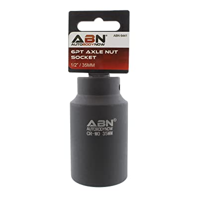 ABN Axle Nut Socket, 35mm, 1/2in Drive, 6 Point – Universal for All Vehicle 6pt Installation, Removal, Repair: Automotive