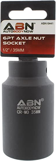 """ABN Axle Nut Socket 1//2/"""" Inch Drive Universal for 6pt Axle Nut on Vehicles"""