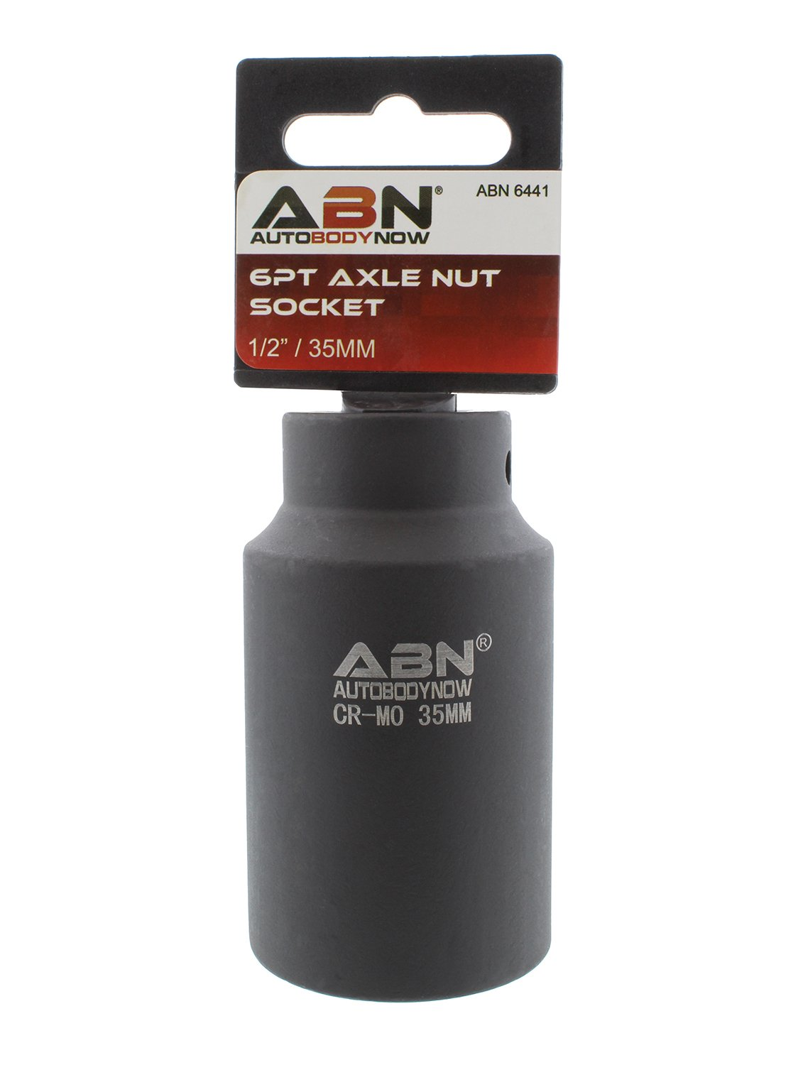 ABN Axle Nut Socket, 35mm, 1/2'' Inch Drive, 6 Point – Universal for All Vehicle 6pt Installation, Removal, Repair
