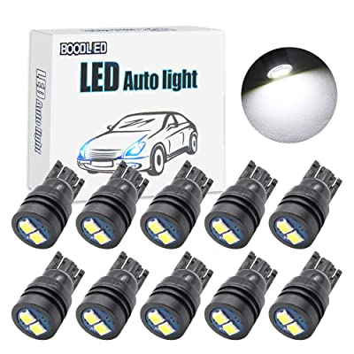 Boodled 10x Extremely Bright 3030 Chipset LED Canbus Error Free Bulbs for Car Interior Dome Map Door Courtesy License Plate Lights Compact Wedge T10 168 194 2825 Xenon White (10 x T10-3030-6SMD WHITE): Automotive