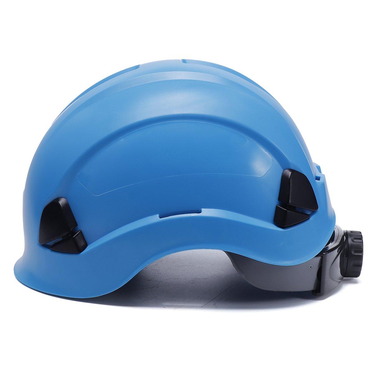 ChaRLes Abs Sicurezza Casco Costruzione Arrampicata Steeplejack Lavoratori Cappelli Duri Protettivi - Lago azzurro