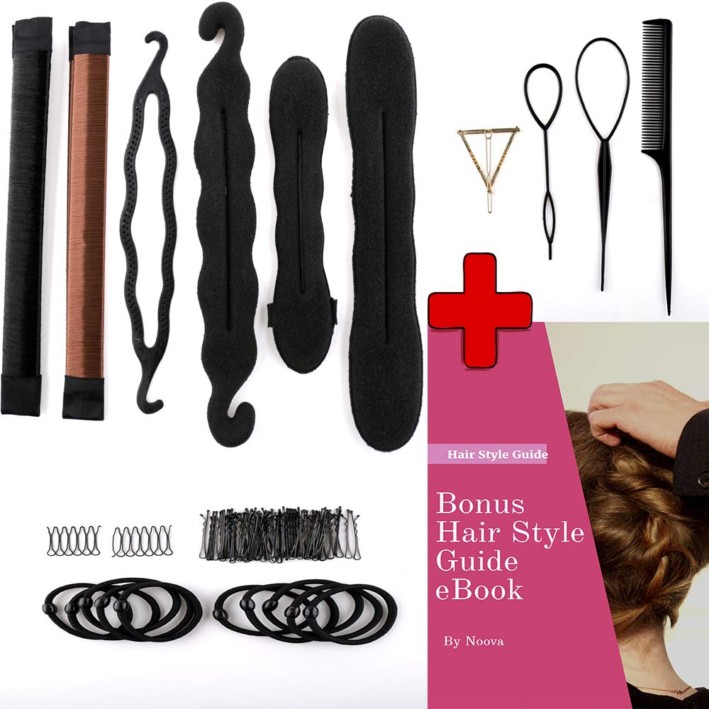 Hair Accessories For Women Topsy - Tail Hair Tools Bun Maker Ponytail Holder Ties Bobby Pins Elastics Hair Braid Magic Twist Hair Styling for Women & Girls Quality DIY Kit Accesorios Para Mujeres