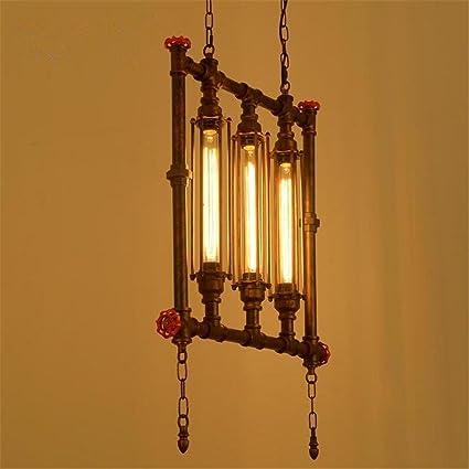 Lámparas de araña Pipa de Agua araña Colgante Retro Luces de ...