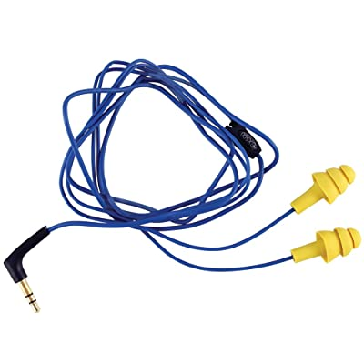 Plugfones Yellow Original Line Audio/music Playing Ear Plugs Resembles Silicone and Foam Hearing Protection