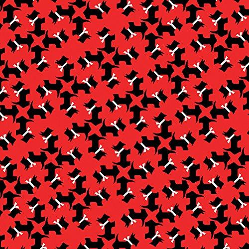 Dog Fabric Scottie (SCOTTIE DOG FABRIC - Scottie Dogs on Red - BEN195 - By Half Yard - By Benartex - 100% Cotton (Scottie Dogs on Red BEN195))
