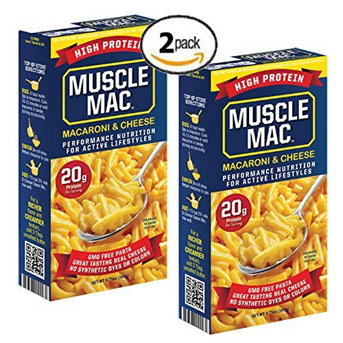 Muscle Mac High Protein Macaroni and Cheese 20g Protein per serving (2 Pack)