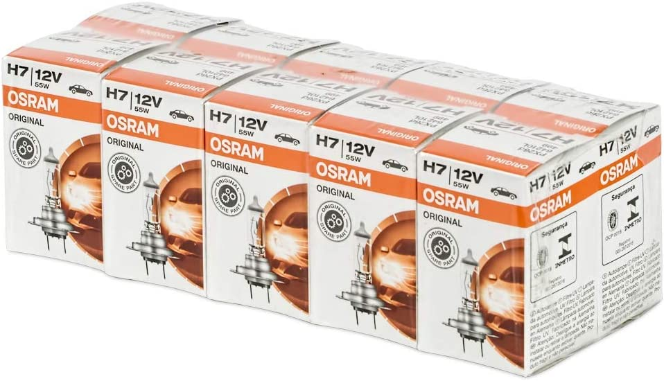 Osram 10x Original Line H7, Longlife, 64210L, 12V, 55W (10 lámparas), Set