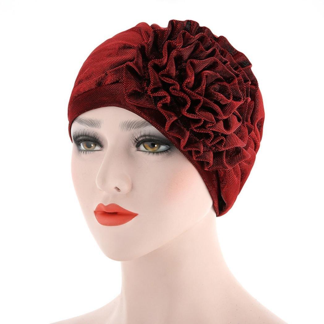 Kingko_ Women's Muslim Sunflower Stretch Turban Hat Chemo Beanie Cap Hair Loss Head Wrap Hijib KINY-6183