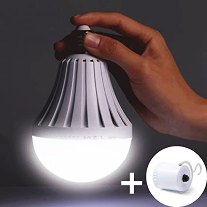 YJY Emergency LED Light Bulb With Build In Rechargeable Battery For  Hurricane Power Outage,