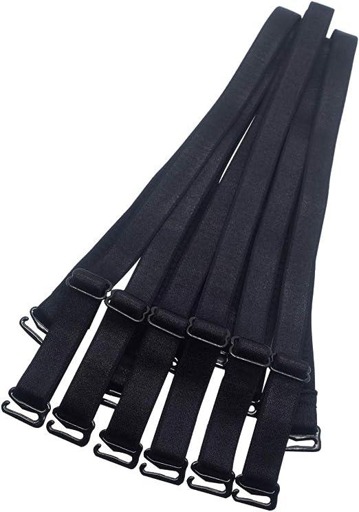 5 Pairs Women Elastic Detachable Bra Straps Replacement Non-slip